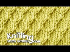Mock Honeycomb Stitch - YouTube