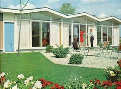 How much more iconic of the era can you get? (love the coloring in the photo)  Architects: Tobocman and Lawrence. Better Homes and Garden, 1963.