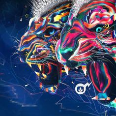 #Nature #Rocks 3/3 Desktopography 2015  #acid #neon #tiger #snow #leopard #jaguar #lion #photoshop #art #illustration #illustrator #instaart #ps25under25 @photoshop #rock #glow #cats #cat #nature #creative #adobe #design #drawing #colorful #color #artistic #animals #big