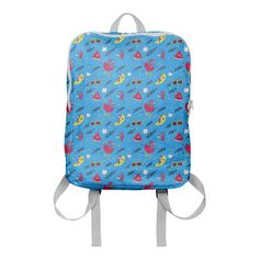 Fab x Print All Over Me Flamingo Fruit Cocktail Backpack   Fab
