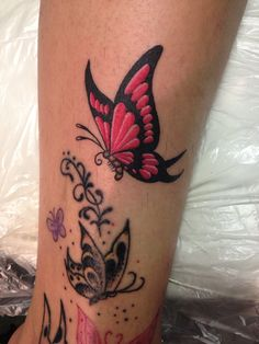 Tattoo by Mike attack of a butterfly @tattooingbyrichie.com @Mike Attack  @richiemontgomery