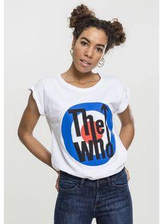 Merchcode T-Shirt 'The Who Classic Target' Damen, Royalblau / Rot / Schwarz / Weiß, Größe XS Target, Britney Spears, Hip Hop, Leggings, Classic, Tops, Products, Fashion, Red Black