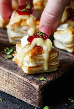 Cranberry & Brie Bites - Easy Party Food Ideas - Photos