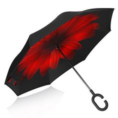 Double Layer Inverted Umbrella Cars Reverse Umbrella With C-Shaped Handle Funny Fishes Sturdy Windproof And UV Protection Compact Travel Umbrella For Women Men