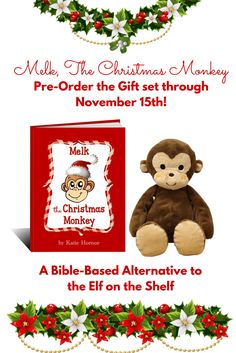 Melk is a wonderful tool for teaching eternal truths to your kids during advent and the holiday season. This giveaway runs through 11/4 and if you enter, you get a link to share earning you more entries when your friends enter! http://paradisepraises.com/giveaways/melk-christmas-monkey-giveaway/