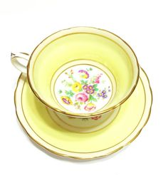 Hey, I found this really awesome Etsy listing at https://www.etsy.com/listing/239823209/lemon-yellow-grosvenor-tea-cuphand