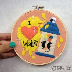 I Love Walls Embroidery Felt Hoop