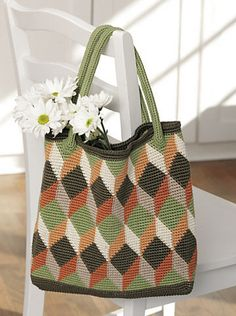 Ravelry: Tapestry Crochet Tote Bag pattern by Susan Lowman Leisure Arts #6321, Crochet Beyond the Basics