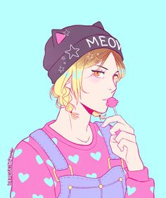 # Anime Boy # Blond # braids