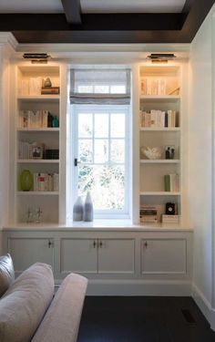 Home Library Lighting Built Ins Ideas For 2019 Bookcase Lighting, Bookcase Styling, Library Lighting, Sconce Lighting, My Living Room, Living Spaces, Office Built Ins, Bookshelves Built In, Creative Bookshelves