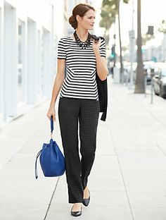 Talbots - Stripe Tee | | Misses Discover your new look at Talbots. Shop our Stripe Tee for stylish clothing and accessories with a modern twist at Talbots
