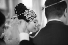 Classic black and white photo of the bride and groom. Wedding Planning by Elegant Aura, elegantaura.com, Photography by Hitched Studios. Click to see more beautiful wedding photos!