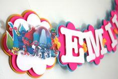 Trolls Birthday Banner - Trolls Party Decorations - Trolls Birthday Themed Party - Trolls Garland by treelittlebirdz on Etsy https://www.etsy.com/listing/489028119/trolls-birthday-banner-trolls-party