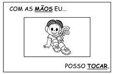 Achei esses cartazes da turma da Mônica no blog da Inara e achei uma graça.... http://alfabetizandocommonicaeturma.blogspot.com/search/labe...