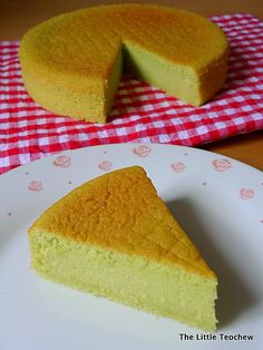 Light pandan sponge cake
