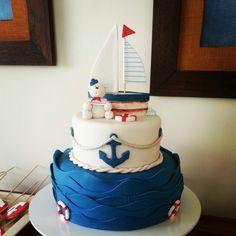 Torta Oso Marinero Nautical Cake, Fondant Baby, Pregnancy Photos, Boy Birthday, Cute Boys, Birthdays, Bolo Fake, Baby Shower, Desserts