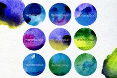 Check out 9 Watercolour blots with 2 texture by Smotrivnebo on Creative Market https://creativemarket.com/smotrivnebo/90031-9-Watercolour-blots-with-2-texture