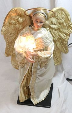 "Holiday Creations 24"" Christmas Angel w/ Wings Animated Lighted"
