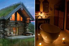 This enchanting wee boltholes are perfect for a honeymoon, or an intimate weekend away for two *wink wink*.