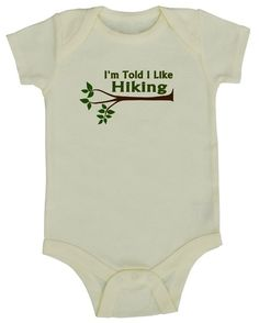 Hiking is a family sport. This cool graphic shirt makes a fun statement! Both the shirt and graphic are super durable and wash well. The bodysuits are very high-quality and soft!