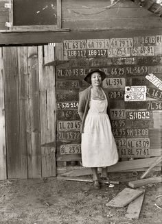 War has been declared not only on foriegn land but on people as well. Farmer's wife, California, ca. 1938, Dorothea Lange