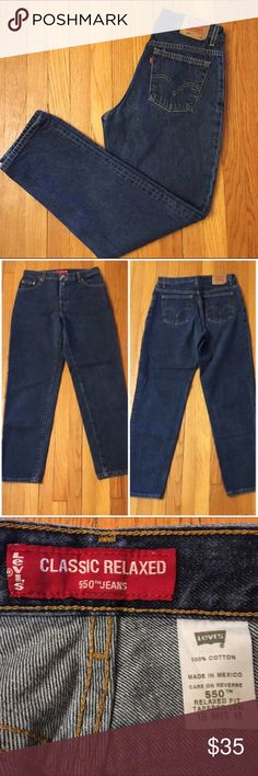 """WILL DISCOUNT! Vintage Levi's Jeans 550 I WILL REDUCE 10% SO YOU CAN GET SHIPPING DISCOUNT IF PURCHASED BY 12/30! Style #/Fit: 550 Classic relaxed fit with a tapered leg  Size Marked: 10 mis M Modern Size BEST FIT: 28/6 Apx. measurements when laying flat: 14.5"""" across waistband 11.25"""" front rise  30"""" inseam 19.76"""" across bottom of back pockets Condition: excellent 🎉Perfect High-Waisted Mom Jeans! Check out my closet for other vintage denim in a VARIETY of sizes. Bundle for a discount…"""