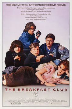 The Breakfast Club Movie Film Poster Print Picture Satin Photo Paper Iconic 80s Movies, 90s Movies, Classic Movies, Good Movies, Club Poster, A4 Poster, Poster Prints, Poster Wall, Movie Prints