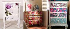 Como renovar um móvel antigo e transformar a decoração da sua casa sem gastar quase nada! Você também pode aplicar papel contact ou tecido!