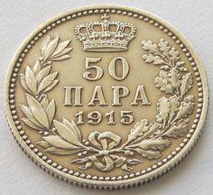 Serbia, Silver Coin, 50 Para 1915, KM# 24.3 Rare: coin die alignment!