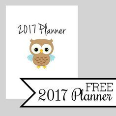 Free 2017 Planner: The FREE 2017 Planner is finally here! You've all been asking for it and today is the day!