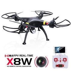 SYMA x8w & x8c FPV RC helicopter drone quadcopter 6-Axis drones With WiFi Camera and 4pcs bladeS As Gift