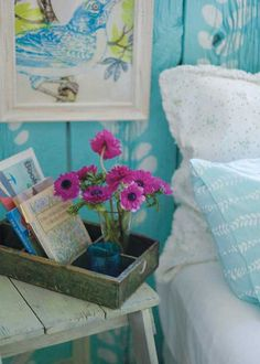 House of Turquoise: My Dream Cottage Turquoise Cottage, Bedroom Turquoise, House Of Turquoise, My Home Design, Home Interior Design, House Design, Estilo Cottage, Wood Crates, My New Room
