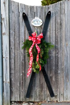 Great idea for holiday fence or door décor - traditional exterior by Mary Prince via Houzz