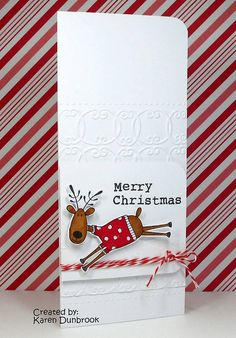 Happy Reindeer, via Flickr., stamp from Hero Arts