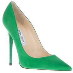 Reese Witherspoon Punctuates Her Look with Green Jimmy Choo Pumps