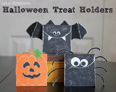 quick halloween treat holders made with my silhouette - Halloween Treat Holders