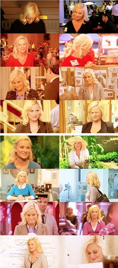 The many faces of Leslie Knope...in rainbow order. / #ParksandRec