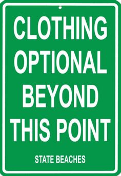 Clothing Optional Beyond This Point Tin Sign from AllPosters.com
