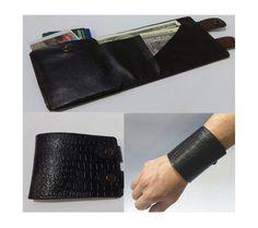Cuff Wallet Leather bracelet Mens Wallet Travel Man Purse