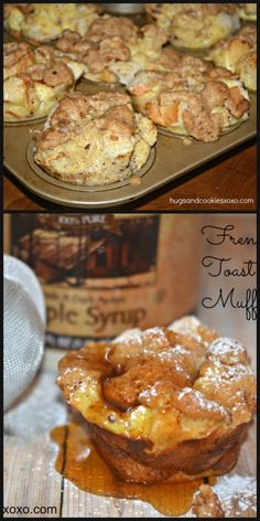 These french toast muffins are worth every single calorie. They are soft inside but the topping and the outside? Crispy!!! Sweet!!…