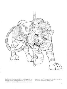 120 Best Carousel Animal Coloring Pages images in 2019 ...