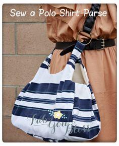 Sew a Polo Shirt Purse - Free Tutorial