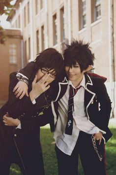 Ao no Exorcist Rin and Yukio cosplay. This is probably the best cosplay I've seen of either of them because it doesnt need special effects. You know exactly who they are by the way they look and are acting. Perfect