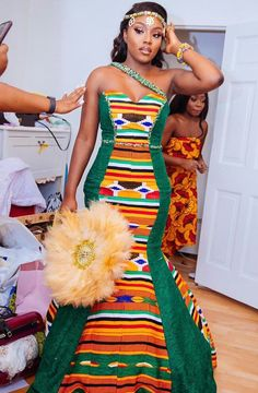 Explore South African wedding traditions, latest Igbo traditional wedding attire, what to wear to a Ghanaian wedding, shweshwe wedding dresses and Ghana Traditional Wedding, African Traditional Wedding Dress, African Fashion Traditional, Best African Dresses, African Fashion Dresses, African Outfits, African Wedding Attire, Ghana Wedding Dress, Wedding Gowns