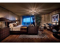 Sultry Dark Dramatic Bedroom - Moraya Bay - Naples, FL