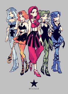 "nobu on Twitter: ""ウィッチーズ5 ★… "" Sailor Moon Art, Cool Artwork, Tarot, Princess Zelda, Manga, Instagram, Anime, Fictional Characters, Twitter"