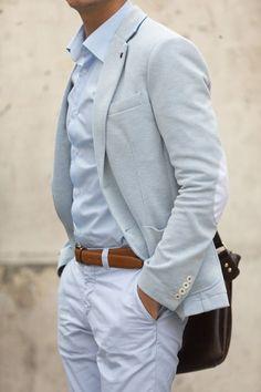 Blazer & White Pant Outfit for men - Men's Fashion Blog - TheUnstitchd.com