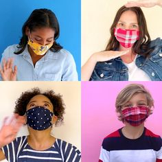 Here's something to #smize about: Multi-packs of reusable non-medical face masks* in sizes for you & the kiddos! ❤️ Three layers of 100% cotton poplin 💙 Breathable & soft 💛 Designed according to CDC recs for non-medical-grade masks ❤️ With comfy & secure elastic ear loops 💙 In tons of prints, patterns & colors *This is not a medical-grade mask. Not for kids under 2. Please see product page for complete information on use and warnings. Face Masks For Kids, Easy Face Masks, Diy Face Mask, Style Outfits, Work Outfits, Fall Outfits, Casual Outfits, Office Outfits, Work Dresses