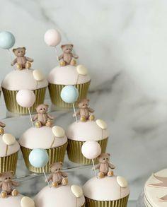 Baby Shower Cupcakes, Gender Reveal, Party, Desserts, Decoration, Food, Tailgate Desserts, Decor, Deserts