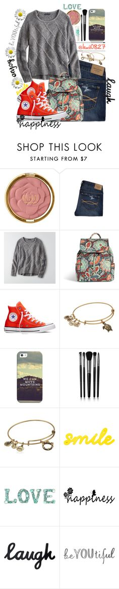 """""""It's a rainy day, but don't let it get in your way🌼"""" by lexii0827 ❤ liked on Polyvore featuring Milani, Abercrombie & Fitch, American Eagle Outfitters, Vera Bradley, Converse, Alex and Ani, Casetify, Maybelline and Illamasqua"""